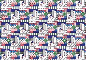 Geometrisk dekorativt färgat glasmönster