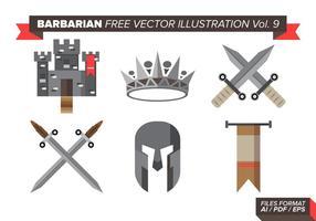 Barbarian freie vektorillustrationen vol. 9