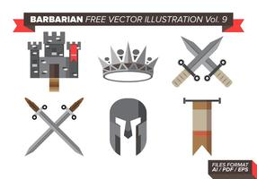 Barbariska Gratis Vector Illustrationer Vol. 9