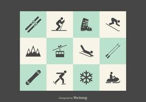 Kostenlose Wintersport Vector Icons