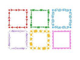 Handgezeichneter Style Frame Set