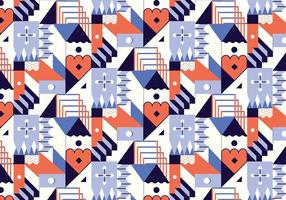 Abstraktes geometrisches Muster vektor