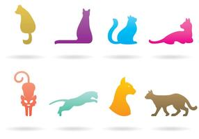 Katt Logo Vektorer