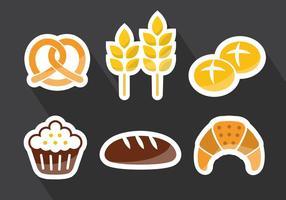 Bröd Rolls Vektor Illustration