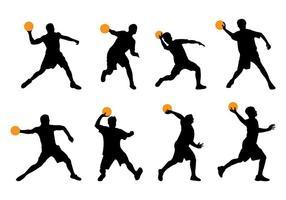 Silhuett av Dodgeball Player vektor