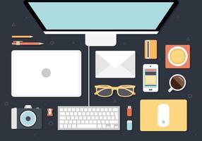 Gratis Modern Office Interiör Vector Bakgrund