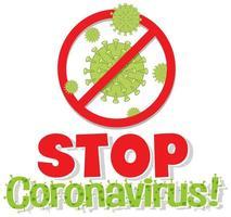 Worte stoppen Coronavirus vektor