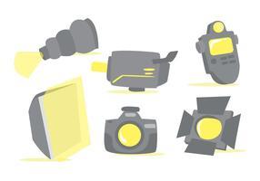 Foto Studio Werkzeuge Vector Set