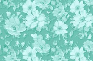 Klassischer Vektor Blumenhintergrund