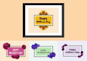 Freie Muttertags Poster vektor