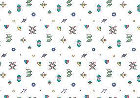 Färgrikt konturerat geometriskt mönster vektor