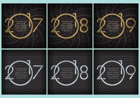 Neujahrsvorlagen vektor