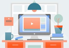 Free Business Home Office Vektor-Illustration vektor