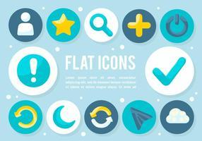 Gratis platta ikoner vektor bakgrund