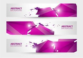 Gratis abstrakt banner vektor