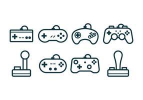 Gratis spel Joystick-ikoner vektor
