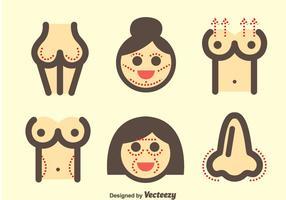Kvinna plastikkirurgi ikoner