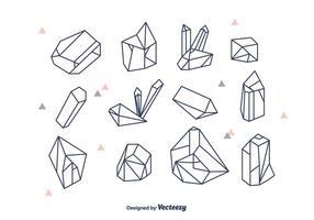 Geometrische Kristalle Vektor Set