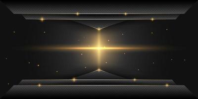 schwarzer abstrakter funkelnder Hintergrund vektor