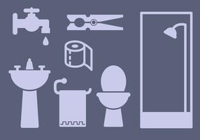 Freie Badezimmer Elemente Vektor