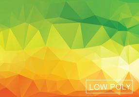 Warm Geometrische Low Poly Style Illustration Vektor