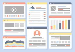 Free Flat Website Vorlage Vektor Hintergrund