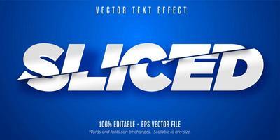 geschnittener weißer Texteffekt vektor