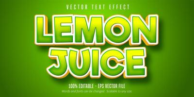 Zitronensaft grüner Farbverlaufstext-Effekt vektor