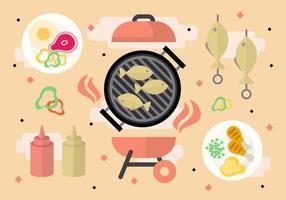 Gratis grillfestvektor
