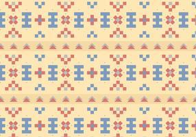 Native Pastel Pattern Bakgrund vektor