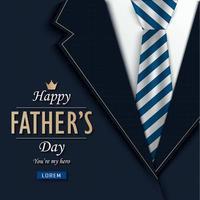 Vatertagsdecke mit Nahaufnahme von Anzug und Krawatte vektor