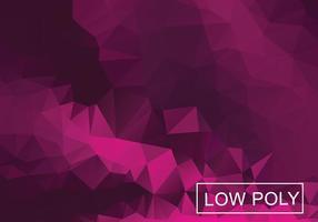 Magenta Geometrische Low Poly Stil Illustration Vektor
