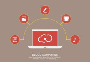 Cloud computing social vektor