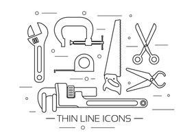 Kostenlose Vektor-Tool-Icons vektor
