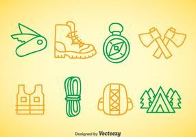 Bergklättring Doodle Ikoner