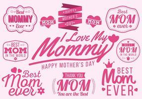 Gratis Glad Mors Dag Typografi Vector