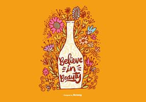 Glaube an Schönheit Blumenvase Vektor