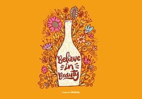 Tro på Beauty Flower Vase Vector