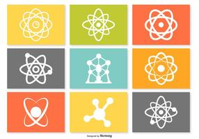 Atom ikonuppsättning vektor