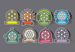 Atomium-Abzeichen und Icon-Vektoren