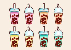Bubbla Tea Vector Set
