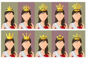 Pageant Crown Skönhetskonkurrens drottning vektor