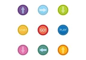 Kostenlose Arcade Button Vektor