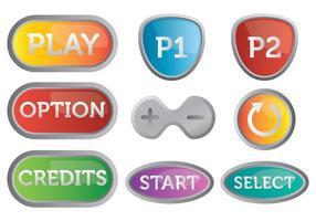 Gratis Arcade Button Ikoner Vector
