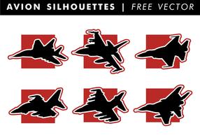 Avion Silhouetten Freier Vektor