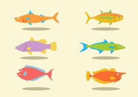Olika fiskar Vector