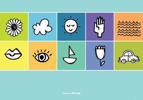 Hand gezeichnete Gekritzel Vektor Icons