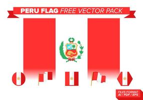 Peru Flagg Gratis Vector Pack