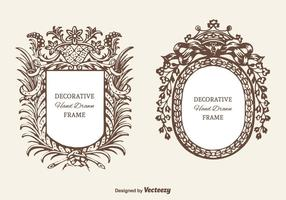 Freier dekorativer Kartuschen-Vektor-Set