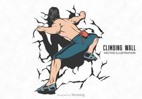 Free Vector Klettern Wand Illustration